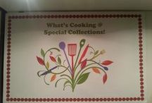 What's Cooking @ Special Collections! / THE BOOKS DISPLAYED IN THIS EXHIBIT ARE PART OF A LARGER COLLECTION OF COOKBOOKS FROM VARIOUS LONG ISLAND ORGANIZATIONS SUCH AS COUNTRY CLUBS, WOMENS GROUPS, AND LOCAL SCHOOL PTAs.