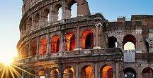 Italie - Rome / Op dit bord vind je Pins van de stad Rome, Italië. Een vakantie vol cultuur, vertier en met geluk de nodige zonnestralen.