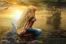 "Mermaid Fantasy / ""I have heard the mermaids singing, each to each.""  -- T. S. Eliot"