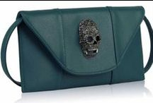 Skull Bags, Purses & Clutches / Skull Themed Bags, Purses, Clutches & More - Check out our large selection at http://www.skullclothing.net