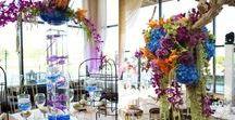 Blue/Purple/Green Flowers / .