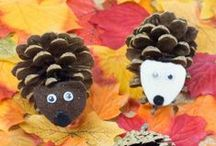 Autumn activities and crafts for kids / A collection of simple crafts and activities for kids related to Autumn.  Includes autumn leaves, animals, remembrance day, bonfire night. Ideas suitable for toddlers and preschoolers as well as older kids.