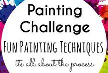 Fun Painting Techniques for Kids / A collection of fun painting techniques for kids : Painting ideas which focus on enjoying the process rather than focusing on the final result: process art. Many simple ideas suitable for toddlers and preschoolers as well as older kids.