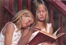Reading / Bücher und Leser in der Kunst (books and readers in the arts)