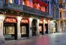 Barcelona barbershop, shopping & coffee / Different shopping & special bars