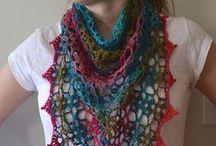 Crochet scarves,shawls & rugs.