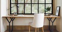 Work Sanctuary / Home office | Inspiration | Workspace | Desk | Minimal | Productuvity | Home Decor | Desk Goal | Work Space Inspiration | Clutter Free | Minimalism |