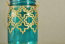 Ideas glass bottle / Painting-idea-make it