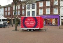 High Street Trailer Promotions / Promote in comfort! exhibition trailer, high street movable office.