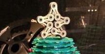 Bicycle parts creativity / Creating great handmade ornaments from bicycle parts. Eco-friendly and out of the box