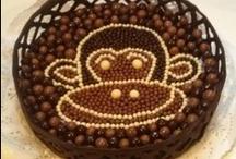 tarta de chocolate y natillas / Las mejores recetas de tartas y postres caseros en : http://www.golosolandia.blogspot.com