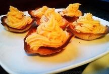 Tartaletas de crema de naranja / Las mejores recetas: http://golosolandia.blogspot.com.es/2013/03/tartaletas-de-crema-de-naranja.html