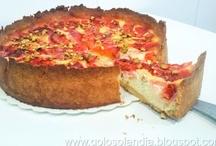Tarta de queso y naranja sanguina / Las mejores recetas: http://golosolandia.blogspot.com.es/2013/03/tarta-queso-naranja-sanguina.html