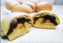 Bollos de leche rellenos de chocolate o brioches / recetas en: http://golosolandia.blogspot.com.es/2013/03/Bollos-leche-rellenos-chocolate-brioches.html
