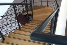 Spirals & Modern Staircases / Staircases with combinations of steel, stainless steel, glass and woods. See more of our works at http://www.metcalfemetal.co.uk/staircases.html