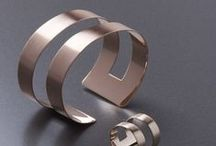 band collection - modern silver and rose gold jewellery