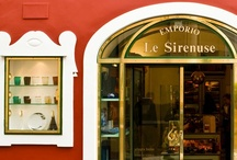 Emporio Le Sirenuse / And, at the EMPORIO HOME,  in the lobby of the hotel, you will find: The mouth blown glasses by CARLO MORETTI, the face plates by FORNASETTI, EAU D'ITALIE: Le Sirenuse signature fragrances, and the extraordinary terracotta bowls by SYLVIE SAINT ANDRÉ PERRIN