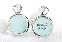 Diamond Themed Wedding Favors /  For A Sparkling Day with our diamond jewel wedding favors!  Our Diamond Wedding Theme Favors offer you a lot of bling and glamour for your wedding with a diamond and crystal theme. From diamond ring themed chrome bottle stoppers to diamond table napkin holders, – there's no such thing as too much bling!