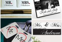 Mr. and Mrs. Wedding Gifts / Favors / Find bride and groom gifts including honeymoon items and fun Mr. & Mrs. wedding gifts like personalized photo frame. You can also find black and white themed wedding favors such as Mr. and Mrs. salt and pepper shakers.