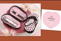 Manicure / Pedicure Set Favors / As a fashionable practical gift, one of our manicure / pedicure sets will make a perfect gift for your next spa-themed girls' night, bachelorette party, bridal shower.  Also perfect for wedding favors and bridal shower favors.