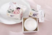 Bath and Soap Favors / Pamper someone special with a Bath and Soap party favors. Whether celebrating a birthday party, baby shower, bridal shower, anniversary, wedding, sweet sixteen, holiday or other special occasion, a bath and soap gift is a unique way to help ease the tension in someone's life.