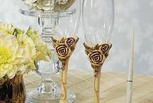 Wedding Champagne Flutes / Also called wedding toasting glasses.