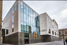 Pamesa Projects: The Zaragoza Provincial Court- Proyectos Pamesa: Audiencia Provincial de Zaragoza / Material utilizado: Cosmos Blanco 60x60- Cosmos Marengo 60x60 (Pavimento) // Materials used: Cosmos Blanco 60x60- Cosmos Marengo 60x60 (Floor)