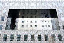 Pamesa Projects: Burgos School of Architecture - Proyectos Pamesa: Colegio Arquitectos de Burgos / Material utilizado: Mural 50x100 (Fachada)- Mural Adz 50x100 (Pavimento) // Materials used: Mural 50x100 (Facade- Mural Adz 50x100 (Floor)