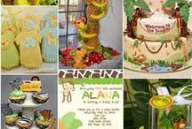 Jungle Baby Shower Ideas / Lion, tiger, bear, monkey, elephant and all animals in this Jungle Baby Shower