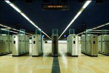 Pamesa Projects:Chamartín underground interchange-Proyectos Pamesa:Estación intercambiador Chamartín / Material utilizado: Valencia Oro 50x50 (Pavimento) // Materials used: Valencia Oro 50x50 (Floor)