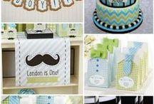 My Little Man Birthday Party Ideas / My Little Man + Mustache Themed Birthday Party ideas or baby shower ideas