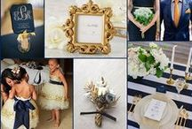 Navy and Gold Wedding Ideas / Navy and Gold Wedding Color Ideas
