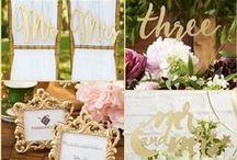 Gold Wedding / Gold wedding ideas with Metallic Foil gold wedding Favors and gold glam wedding favors