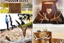 The Hunt Is Over / Engagement party: the hunt is over theme wedding with Rustic deer antler design