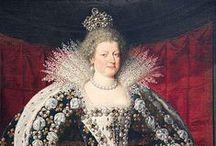 MARIA DE MEDICI SEGUNDA ESPOSA DE ENRIQUE IV REINA DE FRANCIA / María de Médici (Florencia, Italia; 26 de abril de 1575 - Colonia, 3 de julio de 1642) fue reina de Francia como la segunda esposa del rey Enrique IV de Francia de 1600 a 1610. María fue la sexta hija de Francisco I de Médici (1541–1587), Gran duque de Toscana, (1547–1578), archiduquesa de Austria. Ella era miembro de la rica y poderosa Casa de Medici.Su matrimonio con Enrique IV de Francia fue debido, principalmente, a las preocupaciones dinásticas y financieras del rey de Francia.  / by Cookie Torres
