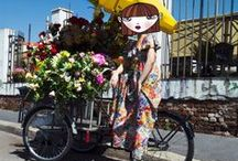 LaDoubleJ Street Styled Girls / We take our favorite zany DoubleJ girls out of for a spin on the streets of Milan to show you how to wear vintage to the max. (Hint: Mix it up, ladies!)  Shop Vintage Clothing and Jewelry on www.LaDoubleJ.com. Worldwide Shipping. Shop Now!
