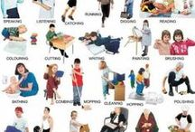 Action Verbs / Vocab lists / posters