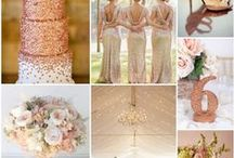 Rose Gold Wedding Ideas / Contemporary, luxurious and sophisticated -- Rose gold is such a stunning color for weddings. Rose gold can have a huge impact on your wedding looks and looks great on cakes, wedding decor, and more!