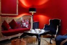 Colourful interiors and other bits of inspiration / Be bold with colour. http://www.colourandpaint.com / by Colour and Paint