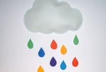 Nube y lluvia / Disfraz de lluvia reconvertido en adorno decorativo