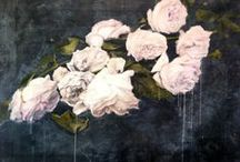 Flora | Collage Paintings / Mixed media collage paintings by Molly McCall.