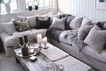 New Extension - Living Room / New Extension Living Room. Greys, Huge L sofa. Plasma. Grown up.