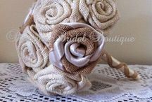 Bridesmaid Flowers / Bridesmaid posy and single stem flowers made from fabric, brooches, buttons and more...