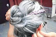 Harmaat / värjätyt hiukset - Grey /dyed hair / Natural /dyed gray - silver hair - luonnolliset ja värjätyt harmaat /hopeat hiukset