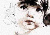 watercolor portraits