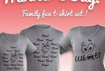 Mother's Day Family Couple Funny T-Shirt Set / Mother's Day Family Couple Funny T-Shirt Set