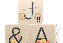Letras scrabble decoradas - Handmade Mia mandarina