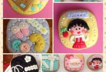 Cute Food and Dessert / Cute food and dessert - includes ideas from other sites and also some fondant cookies that I made in the past.