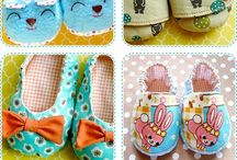 Booties and slippers / Inspirations for DIY slippers in all kinds of sizes...hope to make some in the future!