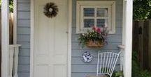 Zahradní domek a jeho okolí / Domek na zahradě,dobré nápady,využití malého prostoru, kouzelné zahrádky v okolí domků.